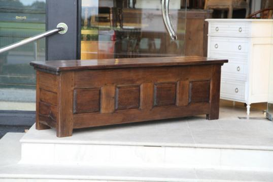 86-49 - Four Panelled Chestnut Coffer
