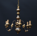 98-52 - Turned 6-Light Chandelier