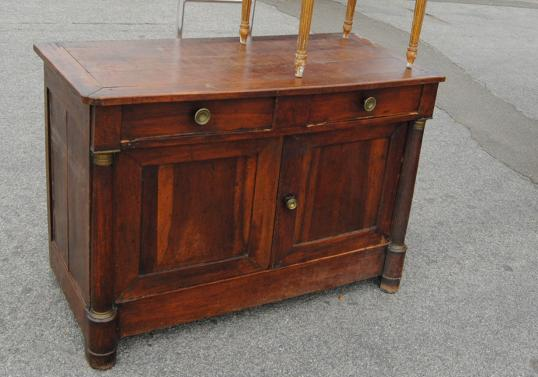 French Empire Two Door Dresser Base