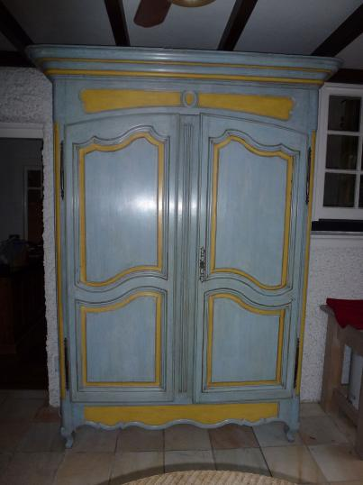 87-18 - 18th Century French Painted Armoire
