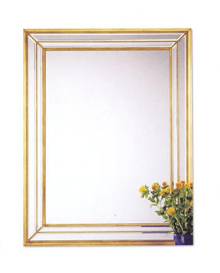 Gold Cushion Style Mirror (new)