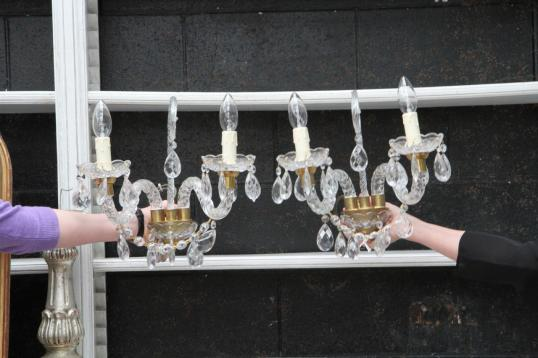 Pair of Wall Chandeliers/Sconce