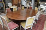87-34 - 19th Century Cherrywood Extension Dining Table
