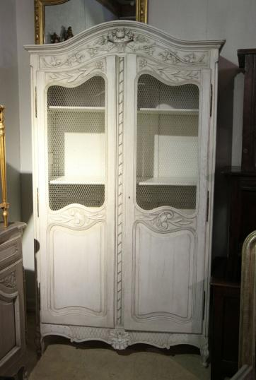 87-40 - Painted French Oak Armoire