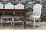 87-49 - Louis XIV Style Dining Chairs with Cane Backs