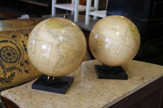 Pair of French Art Deco Globes