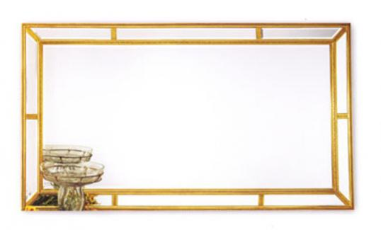 Large, Landscape, Gold Mirror (new)
