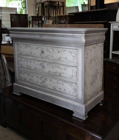 87-74 - Louis Philippe French Painted Commode