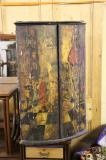 87-83 - 18th Century Painted Corner Cupboard