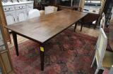 87-94 - Large French Provincial Chestnut Dining Table