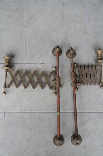 English Brass Wall Lights