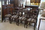 88-40 - Set of Eight New Oak Ladderback Chairs