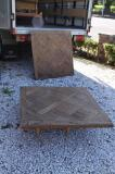 88-97 - French Parquetry Oak Floor Slabs/Table Tops