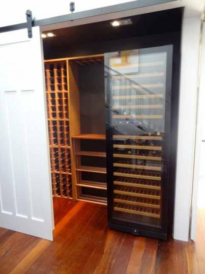 Wine Cellar with Sliding Doors