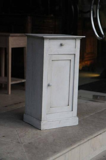 89-41 - Louis Philippe Painted French Single Door Cupboard or Bedside