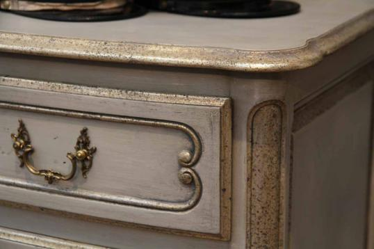 Louis XIV Style Painted French Commode