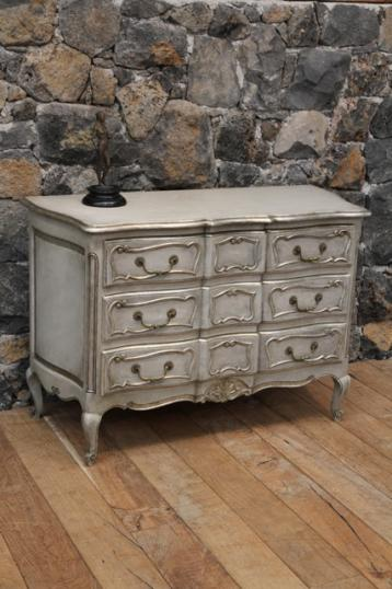 89-67 - Louis XIV Style Painted French Commode