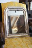 89-79 - Small Louis Philippe Silver Mirror