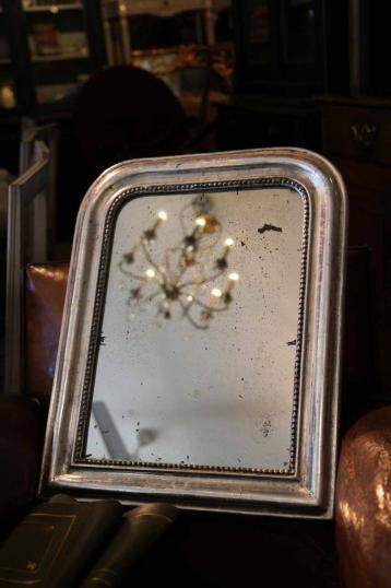 John stephens small silver gilt mirror for Small silver mirror