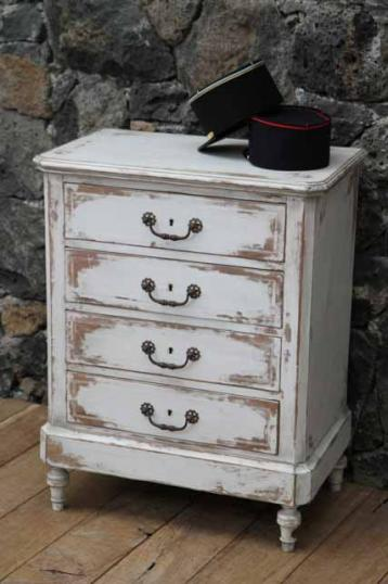 89-87 - French Painted Chest of Drawers/Commode