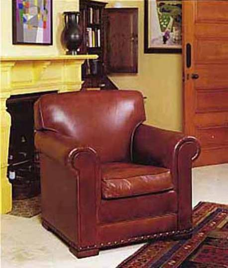 4-03 - Lancaster (Smoker) Leather Chair
