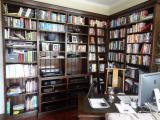 3066 - Bookcase with Library Ladder and Music Equipment