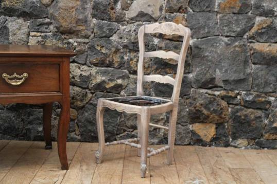 French Louis XIV Style Bleached Oak Dining Chairs