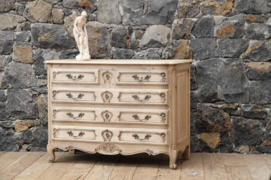 90-34 - Bleached Oak Commode in the Louis XIV Style