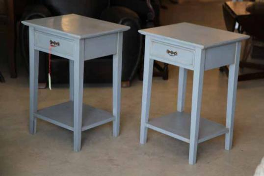 90-39 - Painted Bedside Cabinets in French Grey