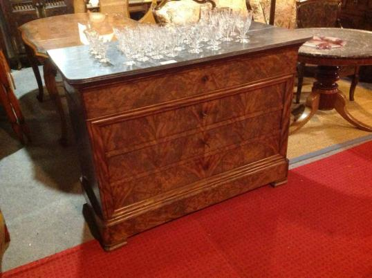 stephens louis philippe commode with top secretaire drawer