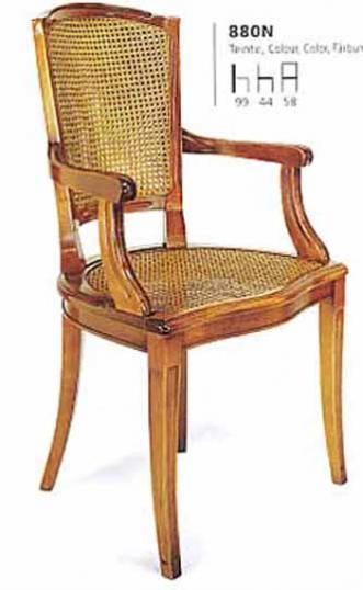 Cane back, directoire, carver dining chair