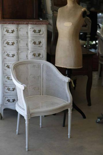 New French Cane Bergere or Chair