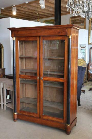 91-25 - French Empire Cupboard or Display Bookcase