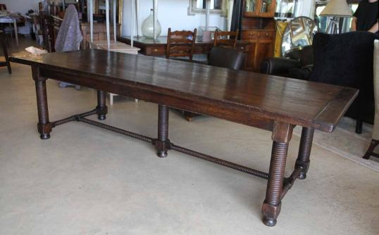 New Bobbin Legged Refectory  Dining Table