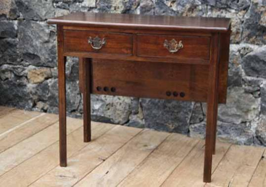 91-53 - Two Drawer Sidetable with Drop Leaf