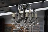 91-63 - Antique Chandelier with Nine Lights