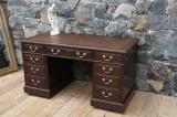 91-73 - English Oak Pedestal Desk