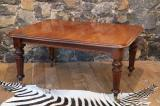 88-44 - English Victorian Mahogany Dining Table with Extension Leaves