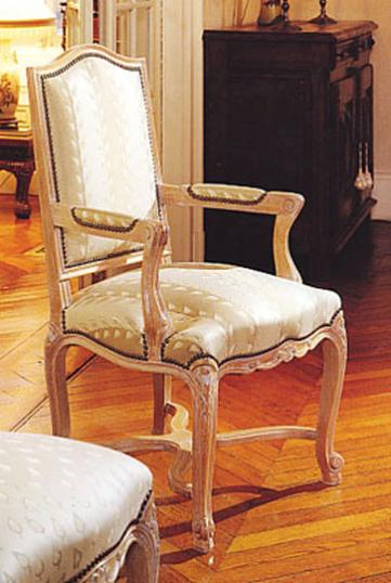Louis XIV Style Upholstered Dining Chair