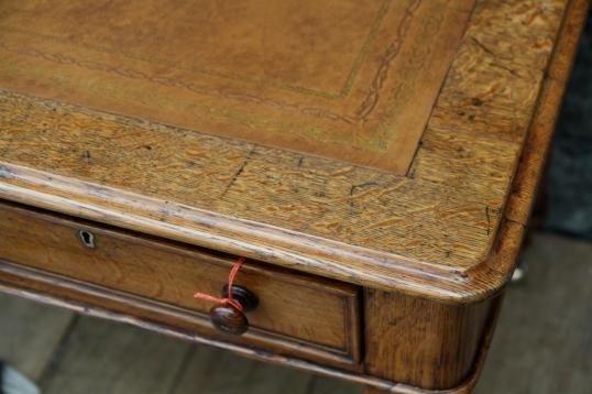 English Two Drawer Writing Table