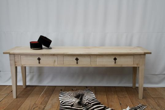 Blonded Three Drawer Side table