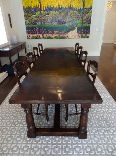 John Stephens Large French Oak Dining Table