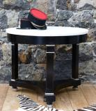 95-06 - Period French Empire Black Gueridon Table