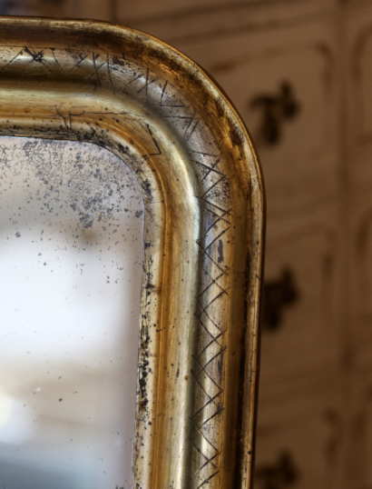 Louis Philippe Gilt Engraved Mirror