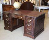 95-64 - English Oak Pedestal Desk