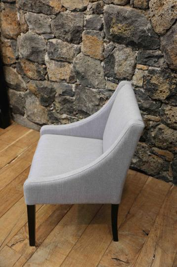 French Tapered Legged Arm Chair