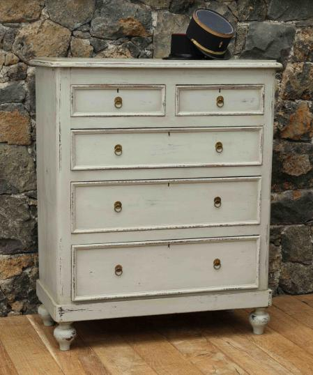 96-33 - Gustavian Grey Chest of Drawers