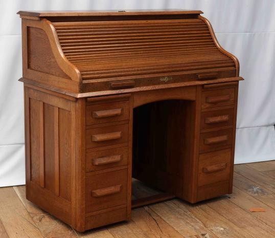 96-35 - Roll Top Cutler Style Desk