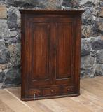 96-49 - Georgian Oak English Corner Hanging Cabinet