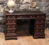 96-50 - English Oak Pedestal Desk